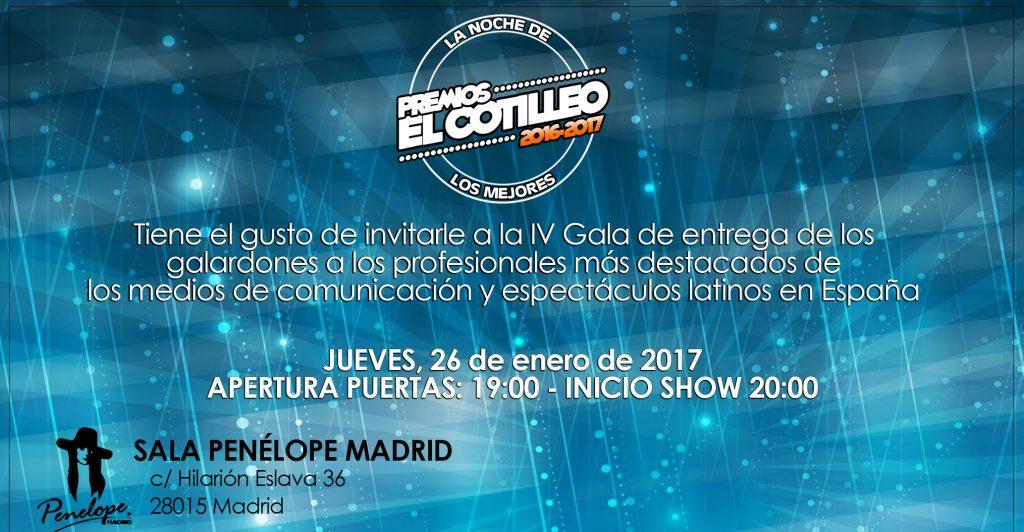 INVITACIÓN PREMIOS 2017