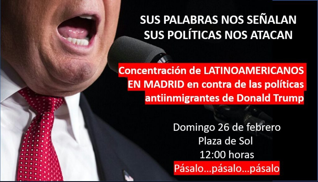 Cartel concentración Anti Trump